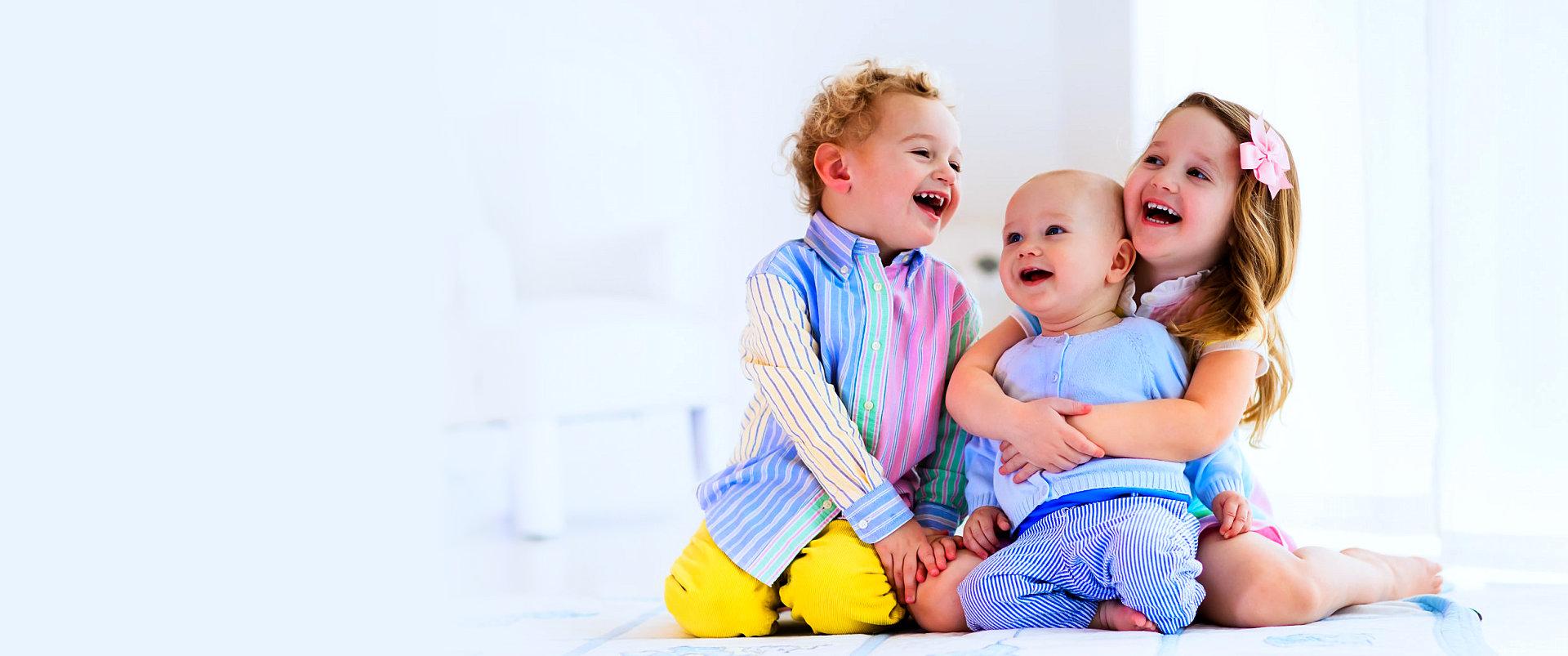 group of infants having fun